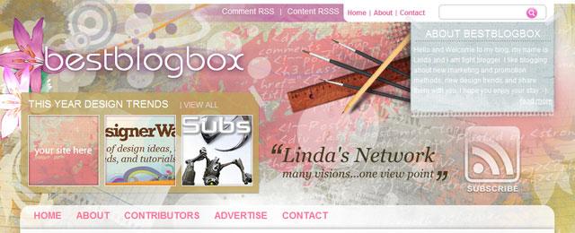 BestBlogBox header design