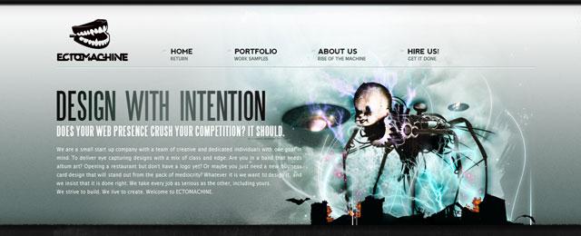 Ectomachine artistic header design
