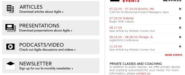 Great web 2.0 white webpage