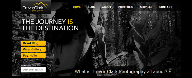 Trevor Clark photo - header design