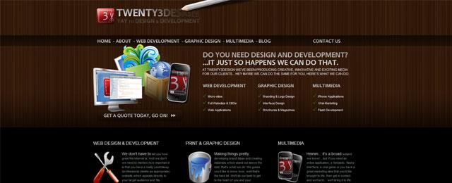 Twenty3design website design