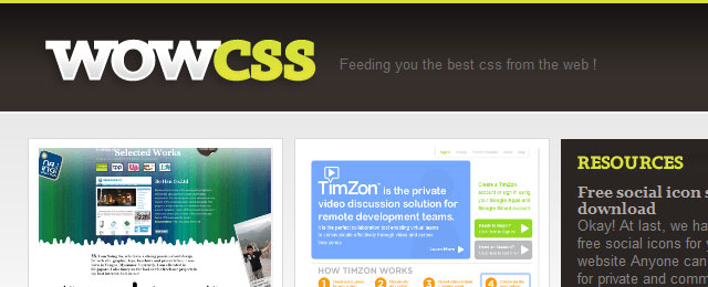 Wow CSS clean web 2.0 site design