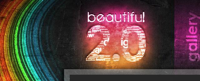 Grunge rainbow header graphics art