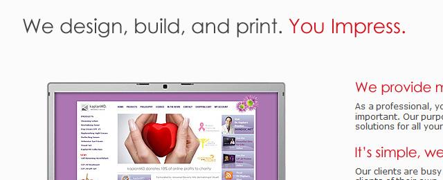Clean, minimalistic website design