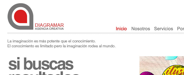 Minimalistic company website design