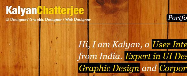 Wooden website design
