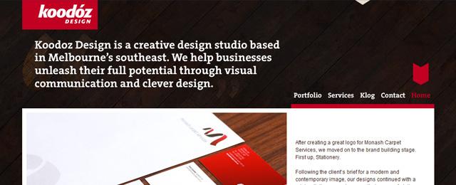 Clean, dark, wooden corporate design