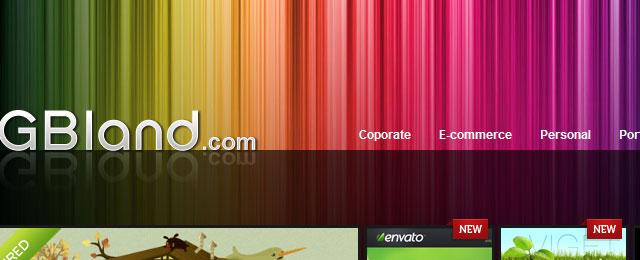 Colorful header design with polar aurora
