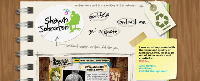 Clean portfolio website design