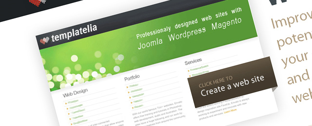 Clean, web 2.0 website design