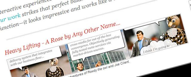 Great sense of website design