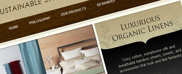 Great looking wooden website design