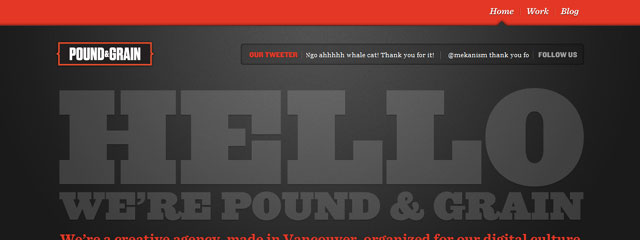 Pound web design