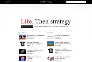 Life. Then strategy image